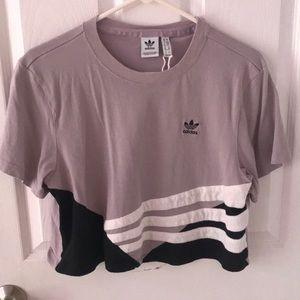 Lilac Adidas Crop Top 🤩